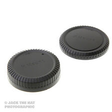 Fuji X Body Cap & Rear Lens Cap Set. Fits all Fuji X Mount Lenses & Cameras.