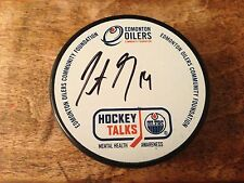 Justin Schultz Hockey Talks /140 ROOKIE Autograph Signed Puck Mental Health