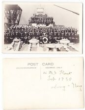 Early Post Card, China,Hong Kong, H M S Kent The Ships Crew In Hong Kong,1930,RP