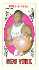 1969-70 TOPPS BASKETBALL WILLIS REED HOF ROOKIE CARD #60 EXMT-NM NO CREASES(374)