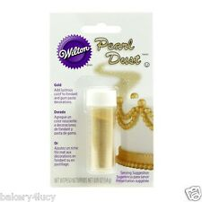 NEW PEARL DUST CAKE GUM PASTE FONDANT COLOR WEDDING BIRTHDAY GOLD DECORATING .05