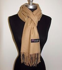 Women's New 100% Cashmere Scarf Solid Camel Scotland Warm Wool Wrap Soft #1