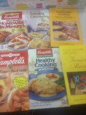 Lot Of 6 Cookbooks Campbell's Casseroles Cook Book Pictures Easy Healthy