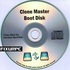 CLONE MASTER BOOT DISK, GHOST YOUR HARD DRIVE, RE IMAGE. plus Bonus Software