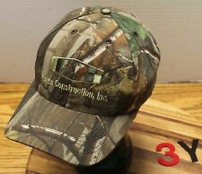 GARCO CONSTRUCTION SPOKANE WASHINGTON HAT CAMO ADJUSTABLE VGC