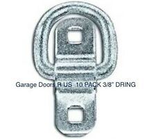 "D RINGS CARGO MOTORCYCLE QUAD TRAILER TIE DOWN D RING 5000# ~10 PACK 3/8""~"