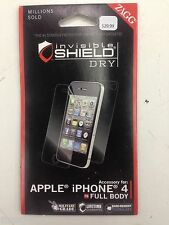 ZAGG Invisible Shield Screen Protector for Apple iPhone 4s 4  Full Body Coverage