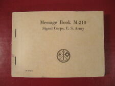 WWII Era US Army Signal Corps M-210 Message Book - Unissued Condition