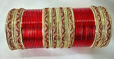 Indian Tradition 48pcs Red Colored fashion royal Bridal Bangles Set Jewelry 2.6.