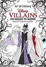 Disney Villians Adult Colouring Book Creative Art Therapy Relax Fantasy Fairy