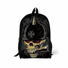 Cute Leisure Skull Skeleton Unisex Bookbag Backpack Satchel School Bag Women Men