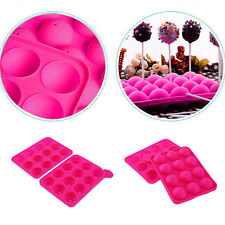 Cake Cookie Chocolate Silicone Lollipop Pop Mould Mold Baking Tray Stick PartyIG