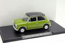 Mini Cooper Innocenti MK3 1300 Baujahr 1972 grün / schwarz 1:24 Leo Models
