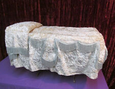 Vintage Funeral Child Size Repose Bed Table Ornate Folding Bier Fringed Covering