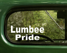 Lumbee Pride Sticker Decal (2) Native American for Car, Laptop