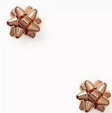 KATE SPADE BOURGEOIS BOW STUD Rose Golden Extremely  Rare NEW WITH TAGS