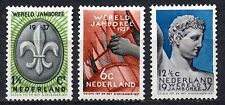 Netherlands - 1937 Scouting; World Jamboree Mi. 301-03 MH