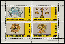 GB Locals - Bernera (1111) 1981 SIGNS OF ZODIAC perf sheetlet unmounted mint