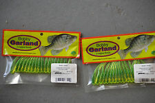 Bobby Garland Baby Shad 18 ct. 2 pks. BS141 Chartreuse/Black Pepper