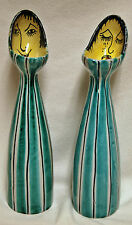 Vintage Pair of Mid Century Modern ED LANGBEIN Original Pottery Vases Italy