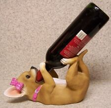 Wine Bottle Holder and/or Decorative Sculpture Dog Lady Chihuahua NIB