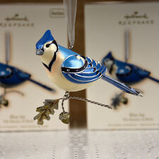 Hallmark 2007 The Beauty of Birds Series Blue Jay Ornament MIB  FULL SIZE Rare