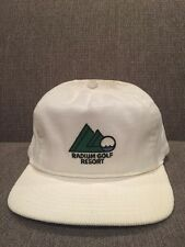 New Vintage Radium Golf Resort British Columbia Corduroy Hat BC White Cap