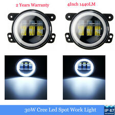 2X 30W Cree Led Fog Light Halo Angle Eyes DRL For Jeep Wrangler JK 07-15 Dodge W