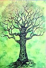 Hippie Indian Tapestry Green Tree Of Life Throw Wall Hanging Gypsy Bedspread