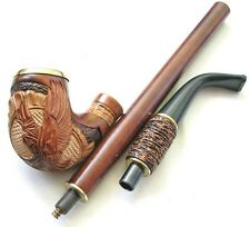 UNIQUE Hand Carved Long Tobacco Smoking Pipe/Pipes/HOOKAH *AMERICAN EAGLE*