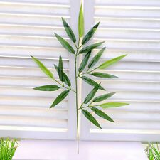 New Green Artifical Bamboo Leaves Plants Plastic Branches Home Wedding Decor