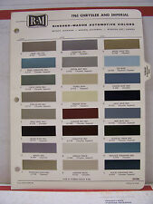 1965 Chrysler 300 Newport Imperial New Yorker Paint Chips Color Chart R-M 65