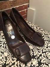 Salvatore Ferragamo Brown Leather High-Heeled Shoes Size 9