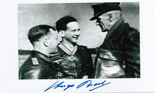 Luftwaffe Hugo Broch WWII Ace 81 Victories 324 missions Knights Cross SIGNED 4x6