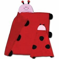 NWT Stephen Joseph Kids Hooded Blanket - Ladybug