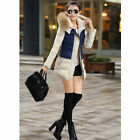 Women Winter Thicken Long Down Jacket Warm Fur Collar Hooded Outwear Parka Coat