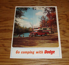 Original 1967 Dodge Truck Campers Go Camping Sales Brochure 67 Pickup