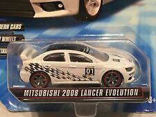 HOT WHEELS 2010 SPEED MACHINES - MITSUBISHI 2008 LANCER EVOLUTION - WHITE