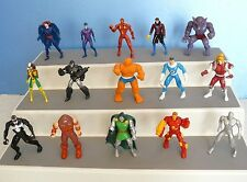 Vtg. MARVEL ~Lot of 17 HEAVY METAL HEROES~ DIECAST Poseable FIGURES(1990-)TOYBIZ
