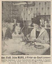 Z8680 Gaufrier électrique Jules MANIL - Pubblicità d'epoca - 1926 Old advert