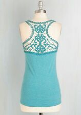*NWT* MODCLOTH / A'REVE 'Poet to be True' Crochet Tank Top - Blue / Teal