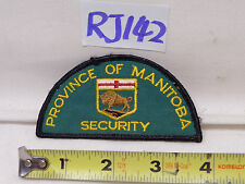 VINTAGE EMBROIDERED PATCH UNUSED NOS CANADA PROVINCE OF MANITOBA SECURITY