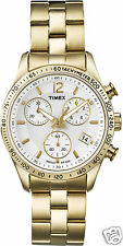 WOMEN'S WATCH TIMEX KALEIDOSCOPE T2P058 STEEL GOLDEN CASE 36MM CHRONOGRAPH