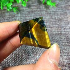 D204 24g  Natural Golden Tiger's Eye Crystal Pyramid Healing China