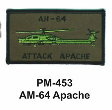 "3""  AM-63 APACHE Embroidered Military Patch"