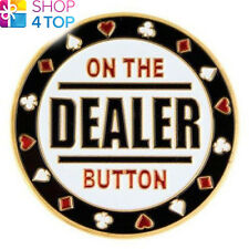 GUARD ON THE DEALER BUTTON POKER CARDS COVER PROTECTOR METAL CHIP COIN PAPER NEW