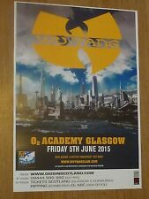 Wu Tang Clan Glasgow 2015 tour concert gig poster