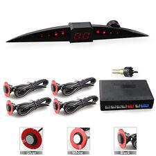 13mm Flat Car Parking Sensors 4 Reverse Backup Radar Sound Alert +LED 3 Colors