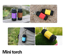 Mini-Torch 0.3W 25Lum USB Rechargeable LED Torch Lamp Flashlight Keychain BUAU#