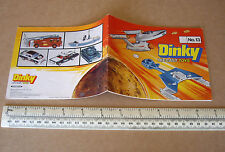 1977 Dinky Die-Cast Toy Catalogue  #13. Star Trek, Space 1999, UFO Thunderbirds